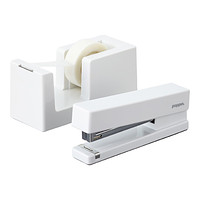 White Poppin Tape Dispenser & Stapler