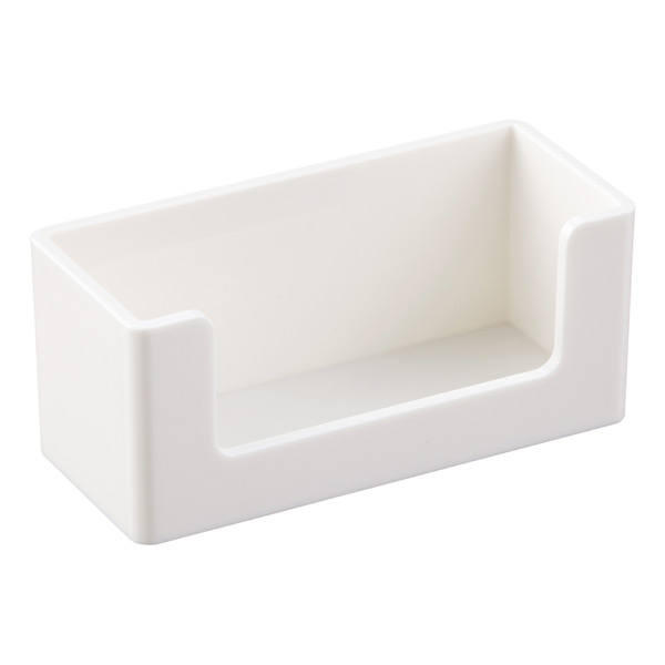 White Poppin Business Card Holder
