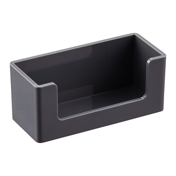 Dark Grey Poppin Business Card Holder