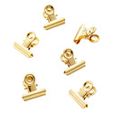 Three by Three Gold Bulldog Clip Magnets