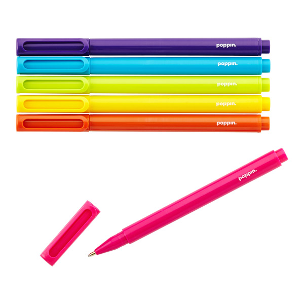 Poppin Assorted Signature Ballpoint Pens