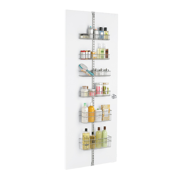 Platinum Elfa Utility Bathroom Door & Wall Rack