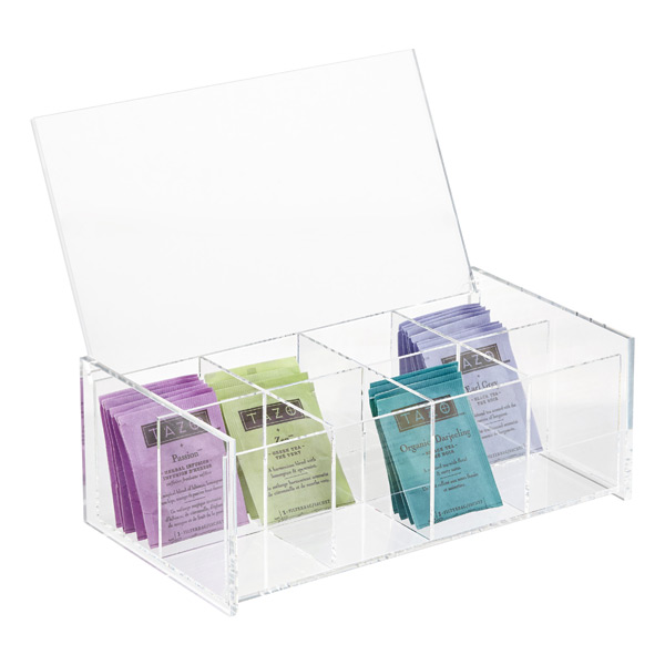 8-Compartment Acrylic Tea Box