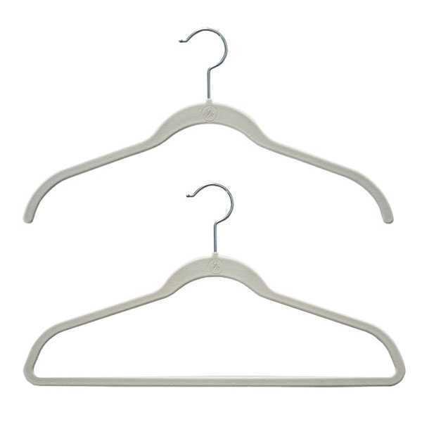 Ivory Huggable Hangers Case of 40
