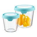 Anchor Hocking Tall Round Glass Food Storage Containers