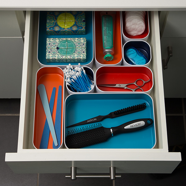 Three By Three Metal Drawer Organizers Set Of 4 The Container Store