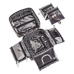 inbag Black Moroccan Travel Jewelry Organizer The Container Store