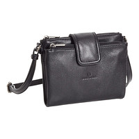 Black Alyssa Leather Crossbody