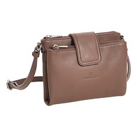 Taupe Alyssa Leather Crossbody