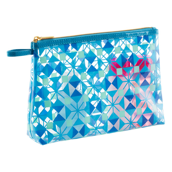 Boho Bleu Quart-Size Zippered Pouch