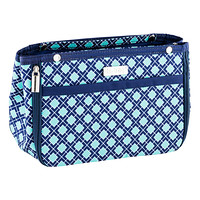 in.bag Navy & Aqua Tile Purse Organizer