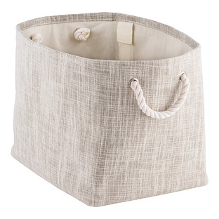 Flax Storage Bin with Rope Handles