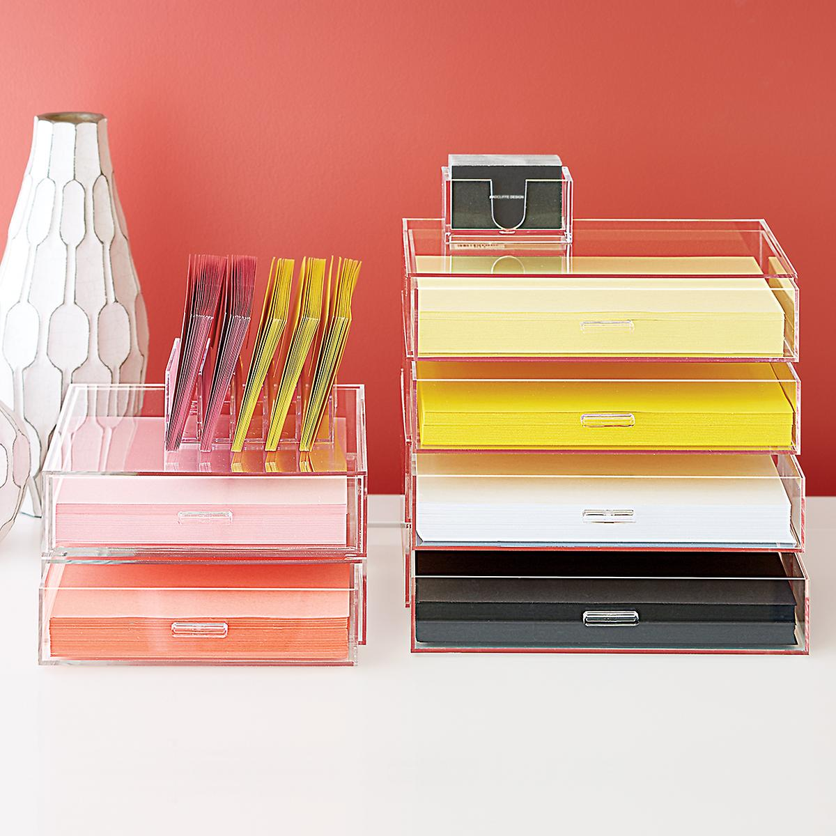 Landscape Acrylic Paper Drawer The Container Store