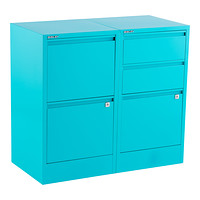 Bisley Aqua 2- & 3-Drawer Locking Filing Cabinets