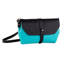 Aqua Primavera Leather Crossbody