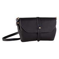 Black Primavera Leather Crossbody