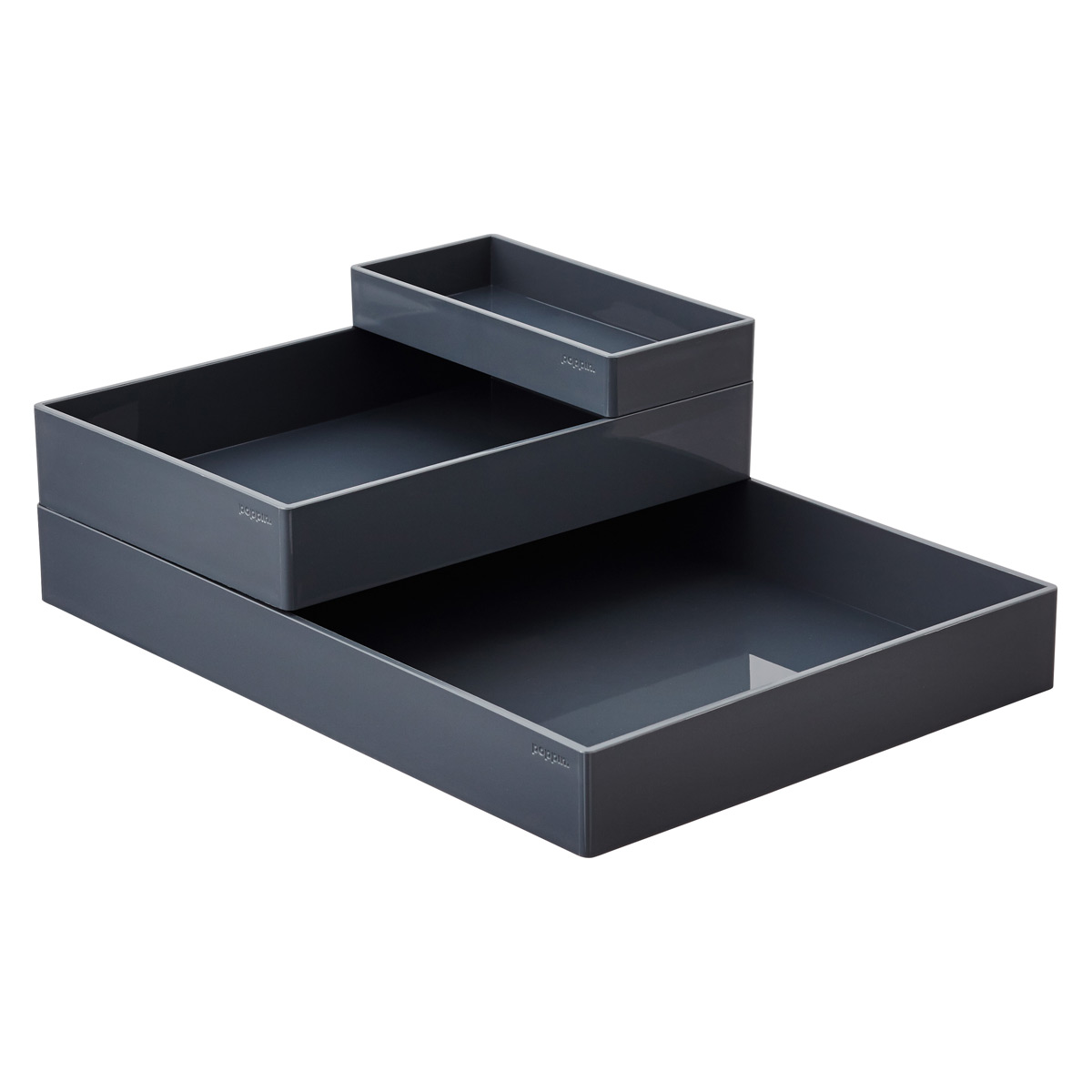 Dark Grey Poppin Accessory Trays