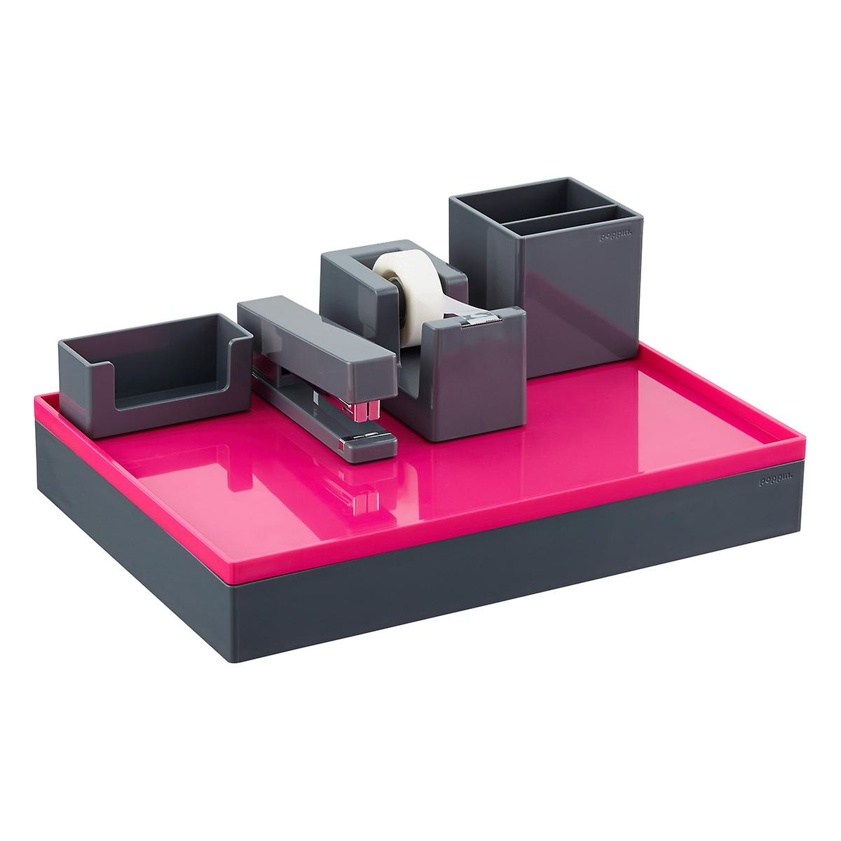 dark grey poppin business card holder the container store. Black Bedroom Furniture Sets. Home Design Ideas