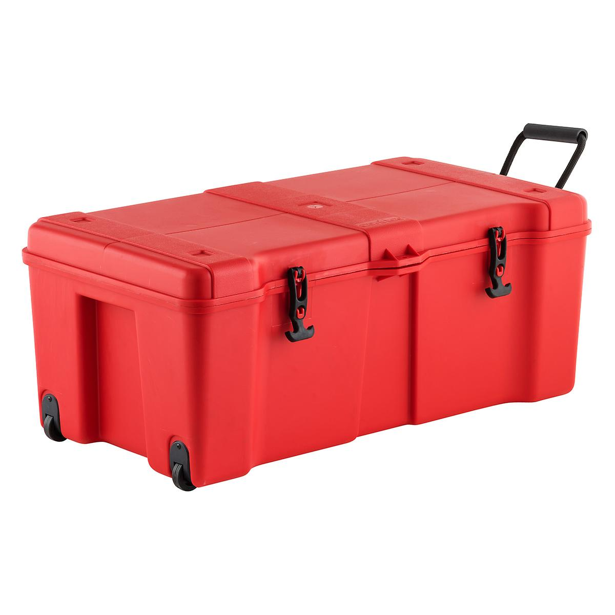 Red Ultra Storage Trunk With Wheels The Container Store