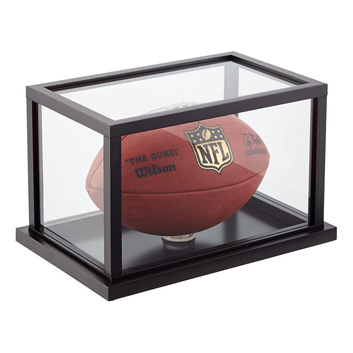 Wooden Football Display Case
