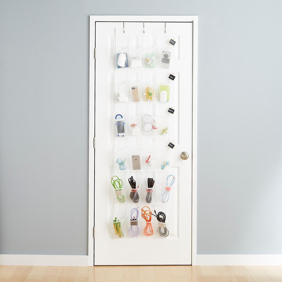 24 Pocket Mesh Over The Door Shoe Bag The Container Store