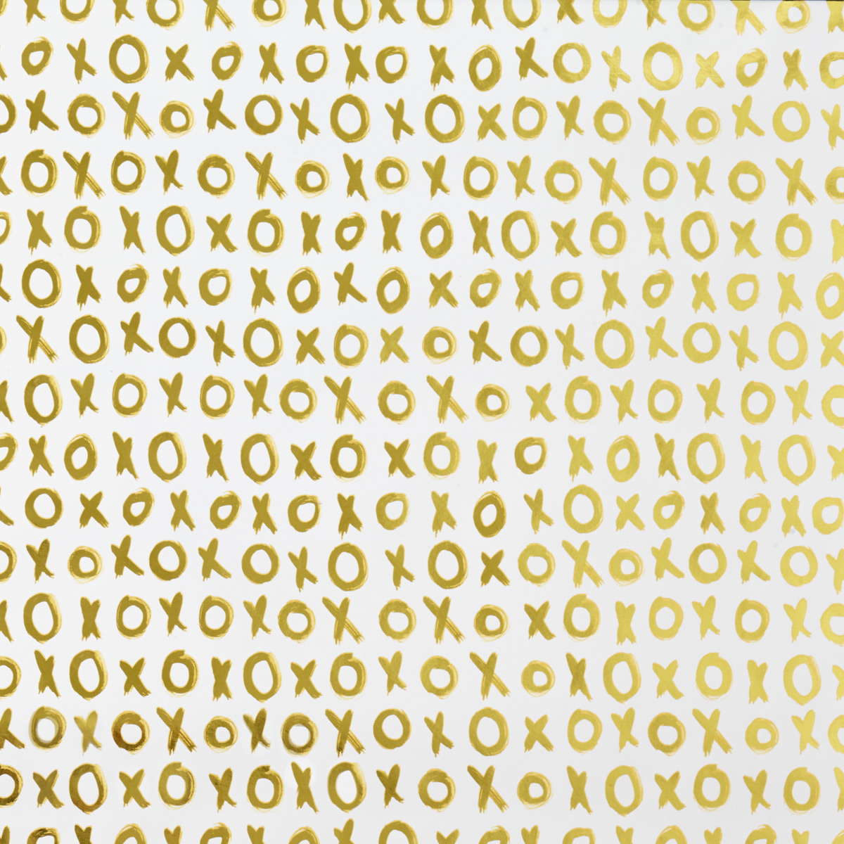 White & Gold XOXO Foil Wrapping Paper