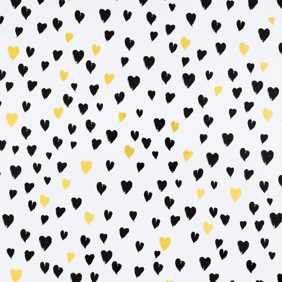 Black & Gold Hearts Foil Wrapping Paper