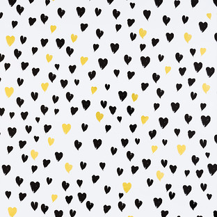 Black Amp Gold Hearts Foil Wrapping Paper The Container Store