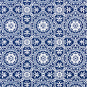 Navy Eliza Medallion Treeless Wrapping Paper