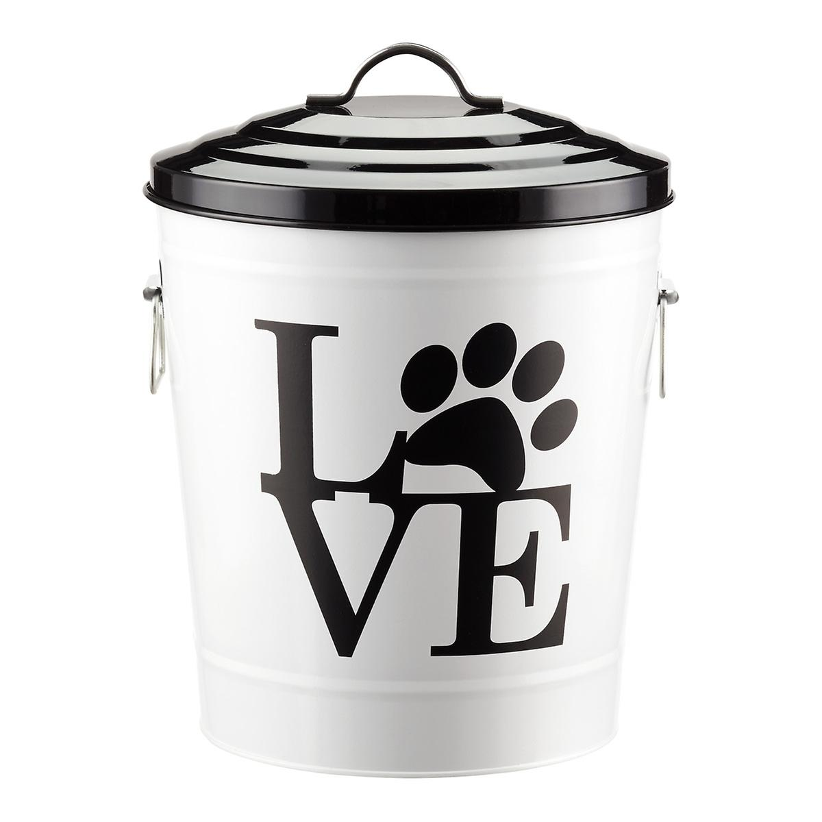 20 lb love pet food tin the container store. Black Bedroom Furniture Sets. Home Design Ideas