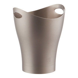 Umbra Brushed Champagne Garbino Trash Can by Karim Rashid