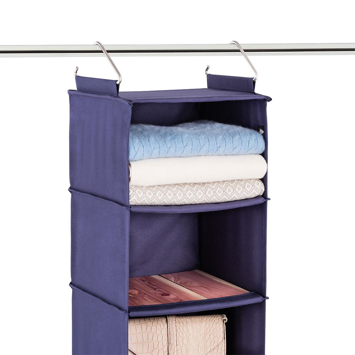 Cedar Stow 6 Compartment Hanging Sweater Organizer The