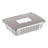 2 lb. Black Trellis Foil Baking Pan with Lid