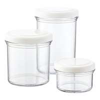 Round Stackable Screw-Top Containers