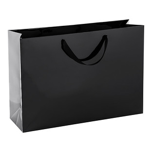 Jumbo Black Gloss Gift Bag   The Container Store