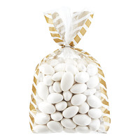 Gold & White Candy Stripe Cello Bags