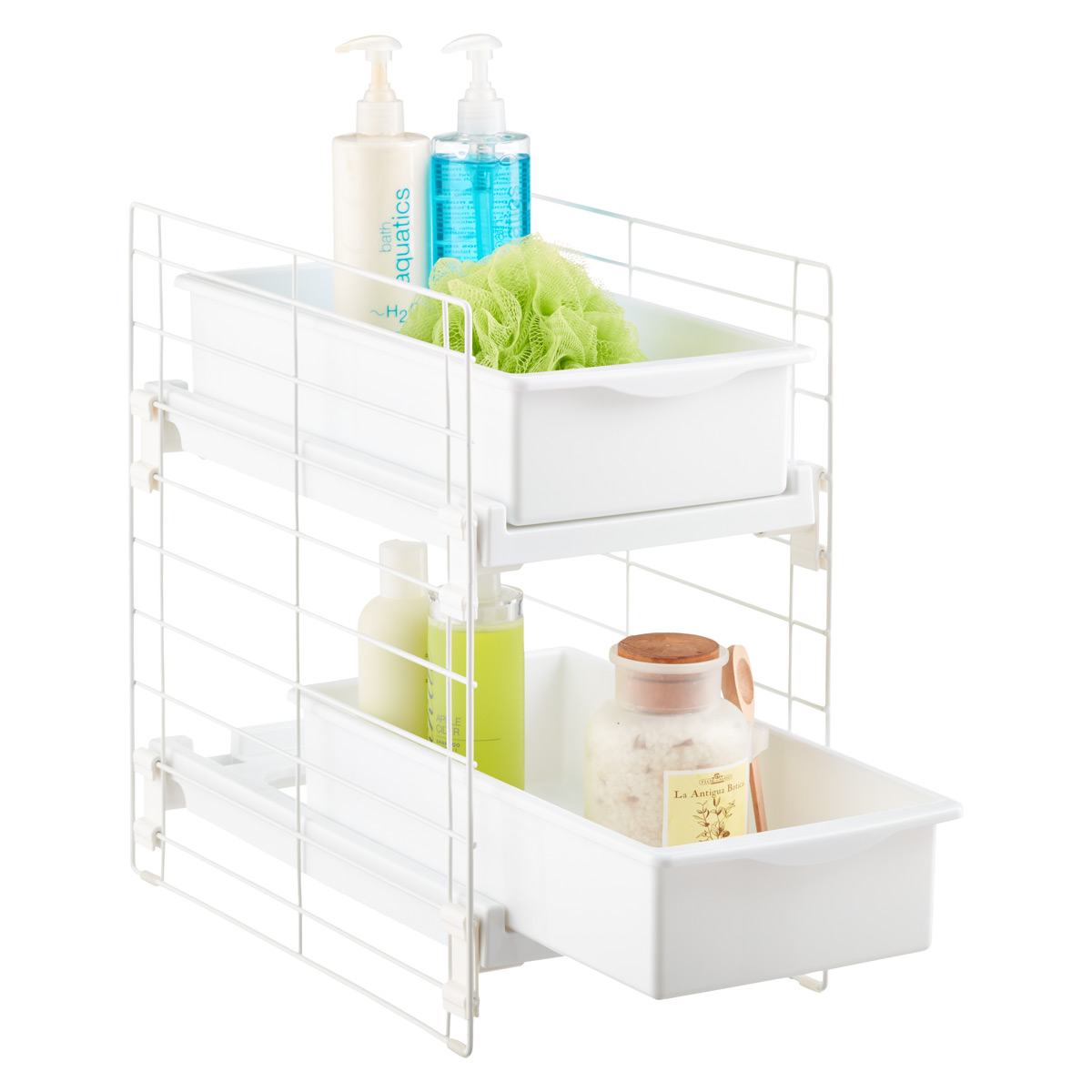Iris sliding 2 drawer organizer