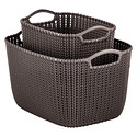 Harvest Brown Knit Baskets