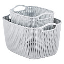 Cloudy Grey Knit Baskets