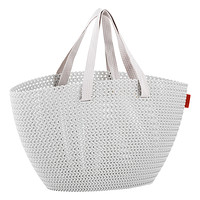 Cloudy Grey Knit Market Tote
