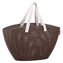 Harvest Brown Knit Market Tote