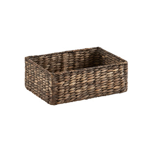 X-Small Dark Water Hyacinth Storage Bin