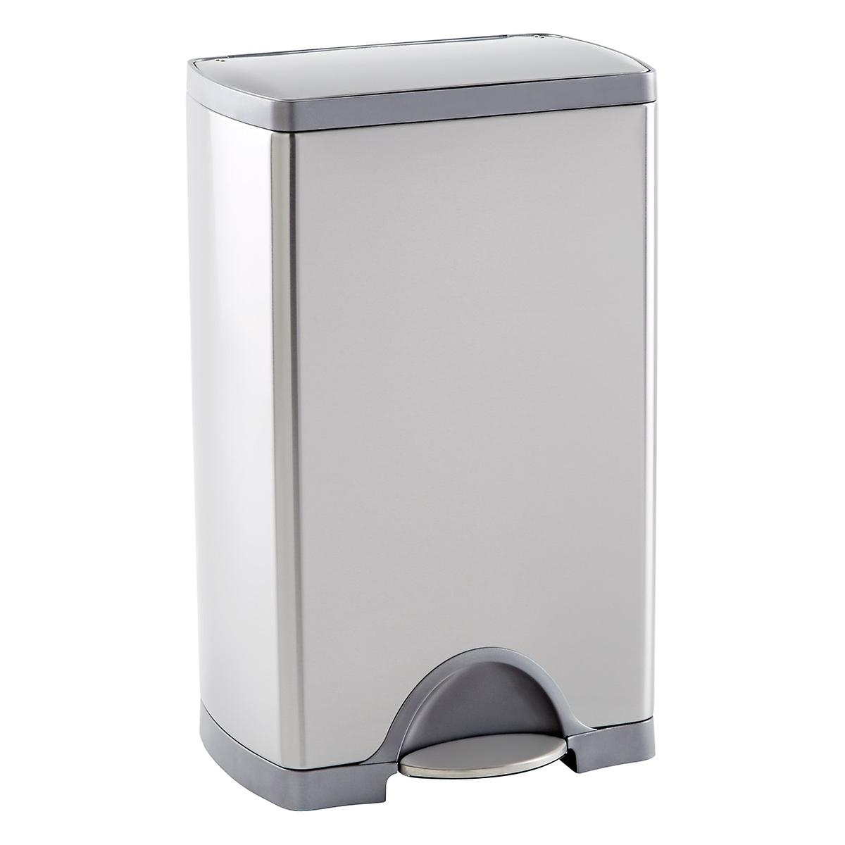 simplehuman Stainless Steel 10 gal. Rectangular Step Trash Can