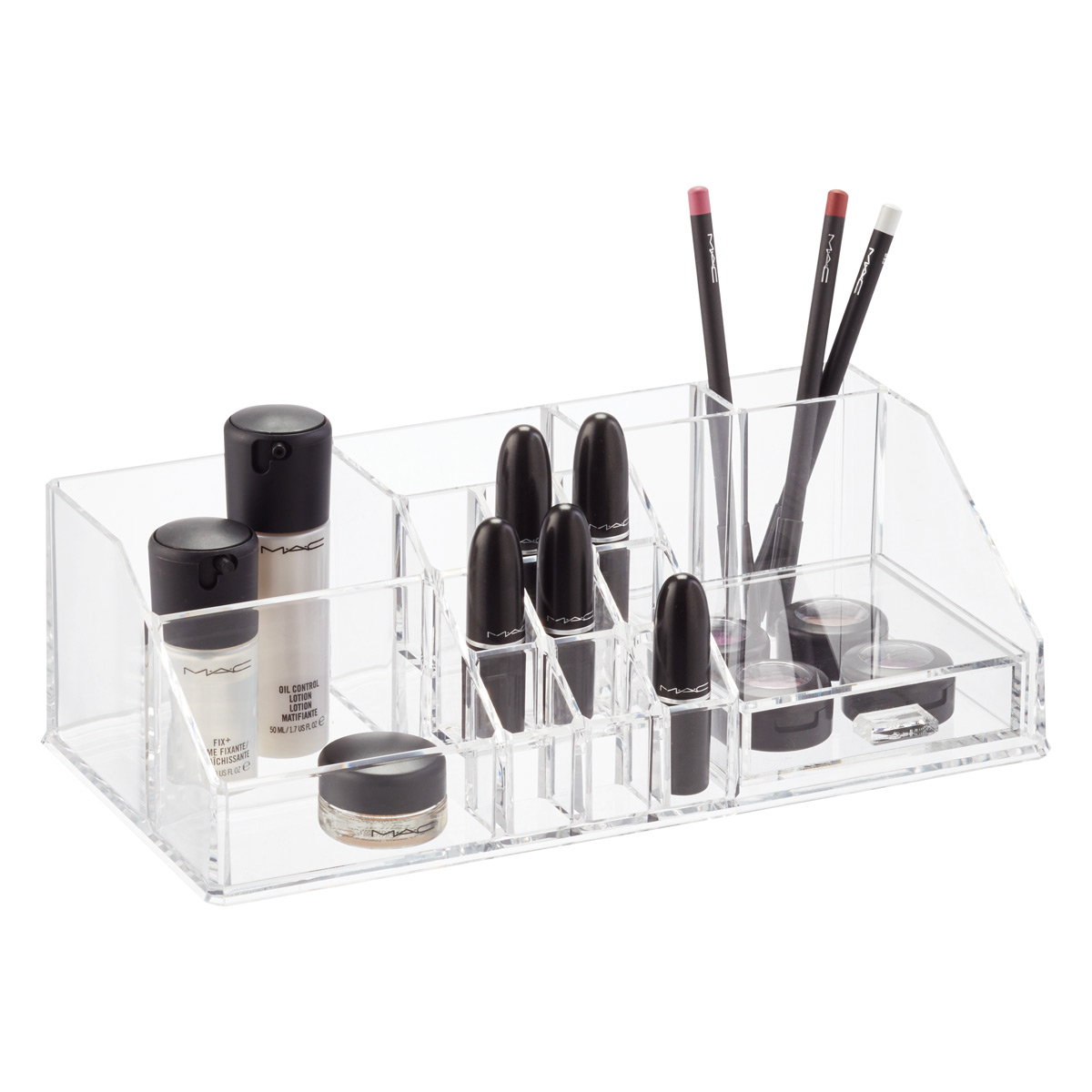 Acrylic Makeup Organizer With Drawer ...  sc 1 st  The Container Store & Acrylic Makeup Organizer With Drawer | The Container Store