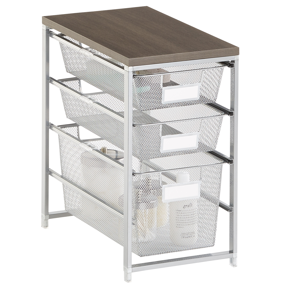 Platinum Cabinet Sized Elfa Mesh Bath Storage ...