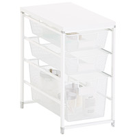 White Cabinet-Sized elfa Mesh Bath Storage