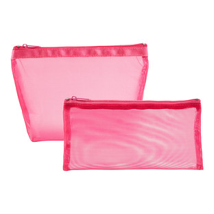 Pink Micro Mesh Pouches