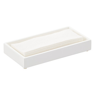 Lacquer Guest Towel Tray. White Bathroom Accessories   The Container Store