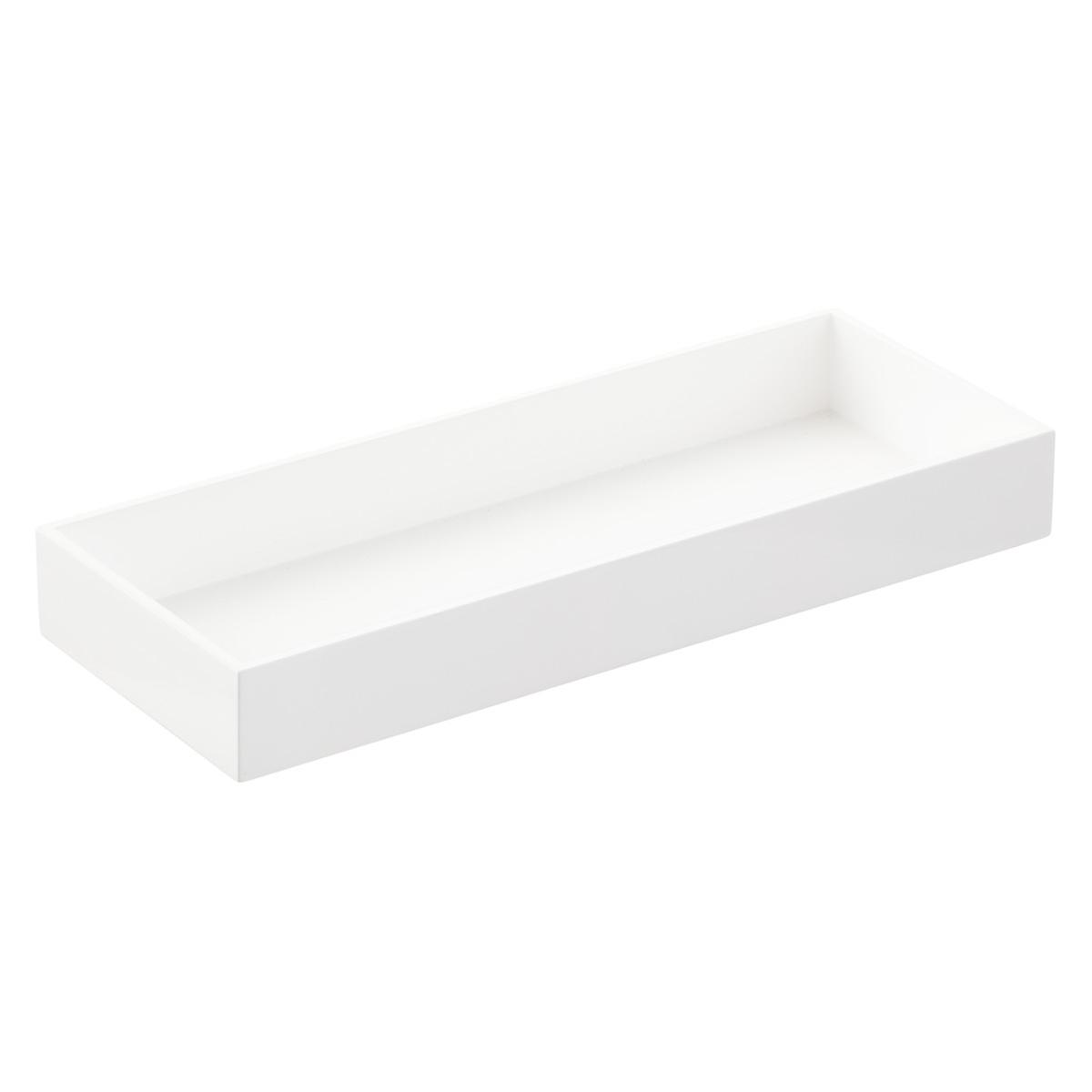 Large White Lacquered Vanity Tray