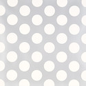 Silver & White Mega Dot Treeless Wrapping Paper